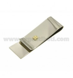 MONEY CLIPS STEEL WITH CLOVER IN Bilamina GOLD AND BRASS