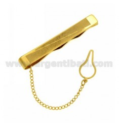 STOP TIE STEEL GOLD PLATED