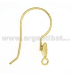 HOOK EARRING WITH AND AGAINST COPPIGLIETTA MESH SILVER GOLD PLATED 925