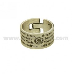 Ringpartie MM 10 &quotAve Maria&quot Silver Satin TIT 925 ‰ Einstellbare Größe 13