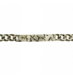 Curb BRACELET WITH PLATE 8 MM IN AG TIT BRUNITO 925 CM 19