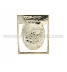 VIDEOS DE DINERO VINTAGE &quotCommunity Chest&quot 40x32 MM PLATA TIT 925 ‰