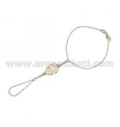 Kuss ROLO CHAIN &39Diamant mit Abfall durch 21x16 MM Silber rhodiniert oder vergoldet PINK TIT 925 ‰