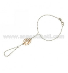 Kiss ROLO CHAIN &39DIAMOND WITH OVAL TRAFORATO 21x16 MM SILVER RHODIUM PLATED GOLD AND ROSE TIT 925 ‰