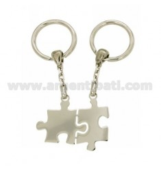 DIVISIBLE PUZZLE KEY RING WITH BRISE 'HOOK IN SILVER TIT 925