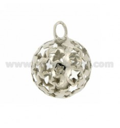 CALLED ANGELS PENDANT 23 MM WITH STARS IN perforated AG RODIATO TIT 925 ‰