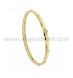 BRACELET ROSARY A Kreisdurchmesser 7 Zirkonaten Bohnen mit Silber plattiert Gold 925 ‰