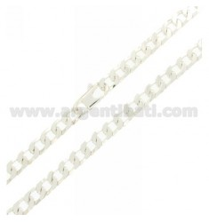Curb CHAIN WITH SPECIAL CLOSING 5 MM 60 CM IN SILVER 925 ‰