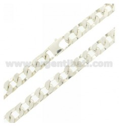 Curb CHAIN WITH SPECIAL CLOSURE 8 MM 60 CM IN SILVER 925 ‰