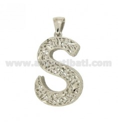 CHARM LETTER S MM 38X24 SILVER Arcbound TIT 925