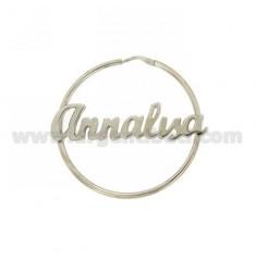 HOOP EARRINGS MM 50 ANNALISA SILVER RHODIUM TIT 925 ‰