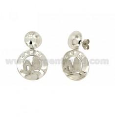 Ohrringe runden 20 MM CAPRI Silber Rhodium TIT 925 ‰