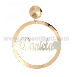 EARRING ROUND 56 MM MONO DANIELA SILVER PLATED RHODIUM AND ROSE GOLD TIT 925 ‰