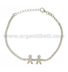 TENNIS BRACELET WITH CHILD.CHILD AND ZIRCONIA IN AG TIT RODIATO 925 ‰ CM 17.20