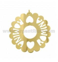 CHARM RUND AUSGEBOGTES MM 50 ROMINA Aus vergoldetem TIT 925