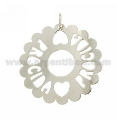 CHARM ROUND SCALLOPED MM 50 PROCIDA SILVER RHODIUM TIT 925