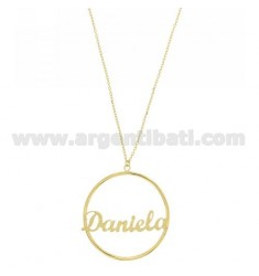 CHAIN CABLE 50 CM WITH CHARM HOOP MM 50 DANIELA IN GOLD PLATED TIT 925 ‰