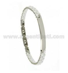 Armband aus Stahl und Keramik PLATTEN