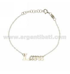 ROLO BRACELET 'CM 18 AS LARA IN SILVER RHODIUM-PLATED TIT 925 ‰