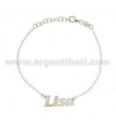 ROLO BRACELET &39CM 18 AS LISA SILVER RHODIUM TIT 925 ‰