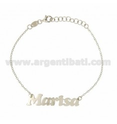 ROLO BRACELET 'CM 18 WITH NAME MARISA IN SILVER RHODIUM TIT 925 ‰