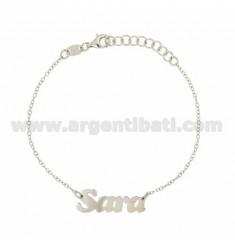 ROLO Armband &39CM 18 MIT NAMEN SARA Silber Rhodium TIT 925 ‰