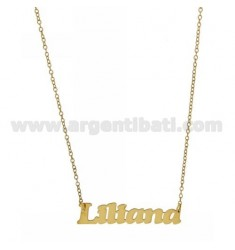 ROLO NECKLACE &amp 39CM 45 AS LILIANA IN SILVER GOLD PLATED TIT 925 ‰