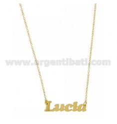 ROLO NECKLACE &39CM 45 AS LUCIA SILVER GOLD PLATED TIT 925 ‰