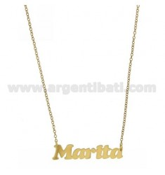 ROLO NECKLACE &amp 39CM 45 AS MARITA IN SILVER GOLD PLATED TIT 925 ‰