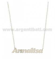 ROLO NECKLACE &amp 39CM 45 AS ANNALISA SILVER RHODIUM TIT 925 ‰