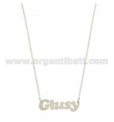 ROLO NECKLACE &39CM 45 AS GIUSY SILVER RHODIUM TIT 925 ‰