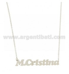 ROLO NECKLACE &39CM 45 AS M.CRISTINA SILVER RHODIUM TIT 925 ‰