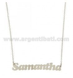 ROLO NECKLACE &amp 39CM 45 AS SAMANTHA SILVER RHODIUM TIT 925 ‰