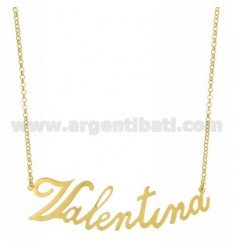 ROLO NECKLACE &39CM 45 AS VALENTINA SILVER GOLD PLATED TIT 925 ‰