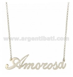 ROLO NECKLACE &amp 39CM 45 AS AMOROSA SILVER RHODIUM-PLATED TIT 925 ‰