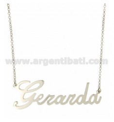 ROLO NECKLACE &39CM 45 AS Gerarda SILVER RHODIUM TIT 925 ‰