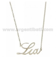 ROLO NECKLACE &39CM 45 AS LIA SILVER RHODIUM TIT 925 ‰
