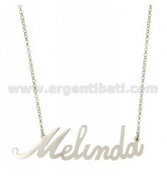 ROLO NECKLACE &amp 39CM 45 AS MELINDA SILVER RHODIUM TIT 925 ‰