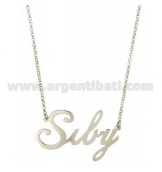 ROLO NECKLACE &amp 39CM 45 AS SIBY SILVER RHODIUM TIT 925 ‰