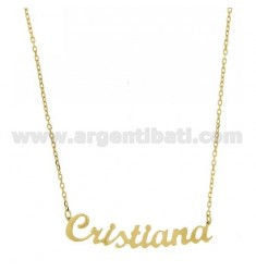 ROLO NECKLACE &39CM 45 AS CHRISTIAN SILVER GOLD PLATED TIT 925 ‰