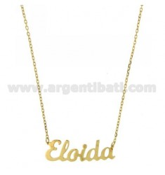 ROLO NECKLACE &amp 39CM 45 AS ELOIDA SILVER GOLD PLATED TIT 925 ‰