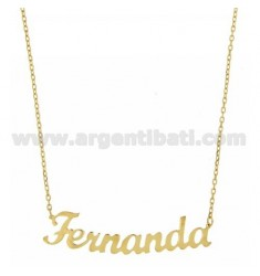 ROLO NECKLACE &amp 39CM 45 AS FERNANDA SILVER GOLD PLATED TIT 925 ‰