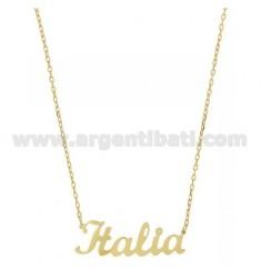 ROLO HALSKETTE &39CM 45 AS ITALIEN Silber vergoldet TIT 925 ‰