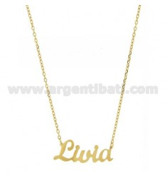 ROLO NECKLACE &amp 39CM 45 AS LIVIA SILVER GOLD PLATED TIT 925 ‰