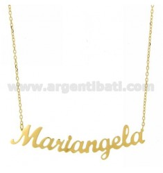 ROLO NECKLACE &amp 39CM 45 AS MARIANGELA SILVER GOLD PLATED TIT 925 ‰