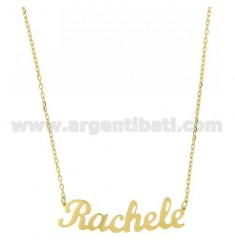ROLO NECKLACE &39CM 45 AS RACHEL SILVER GOLD PLATED TIT 925 ‰