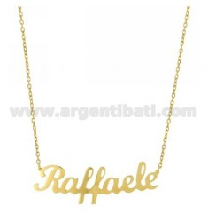 ROLO NECKLACE &amp 39CM 45 AS RAFFAELE SILVER GOLD PLATED TIT 925 ‰