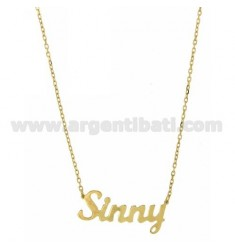 ROLO NECKLACE &amp 39CM 45 AS SINNY SILVER GOLD PLATED TIT 925 ‰