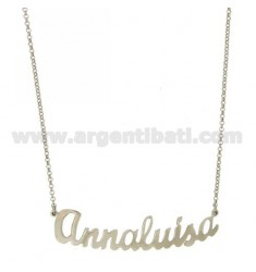 ROLO NECKLACE &39CM 45 AS Annaluisa SILVER RHODIUM TIT 925 ‰