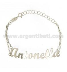 ROLO Armband &39CM 18 AS ANTONELLA Silber Rhodium TIT 925 ‰
